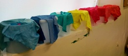 Ruth Issett Workshop - Drying Dyed Fabric
